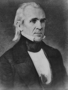 James Polk, the 11th President. This photograph was captured in 1849. Polk was the first President to ever be photographed while in office.