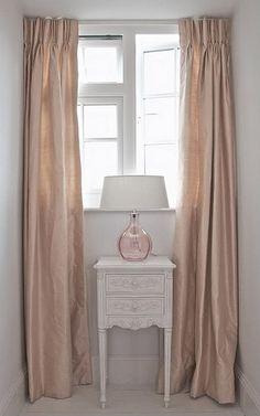 blush rose silk curtains