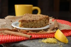 lemon + vanilla coffee cake (love!)