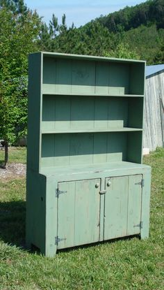 Primitive StepBack Hutch by FarmTablesPlusMore