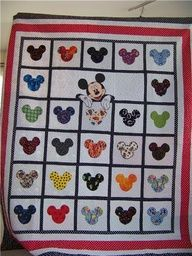 Mickey Mouse quilt - Google Search LOVE!