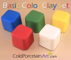 Cold Porcelain Clay  Basic Color Clay Set  by ColdPorcelainArt www.etsy.com/sho/ColdPorcelainArt #crafts, #clay, #coldporcelain, #porcelanafria