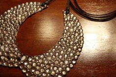 DIY Rhinestone Collar Bib Necklace thing