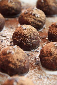 Raw Coconut Lavender Truffles