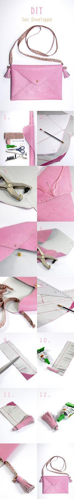 DIY envelope clutch ♥