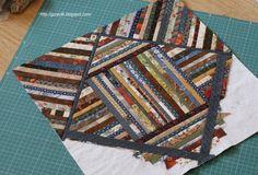 Alternative quilt as you go scrappy quilt