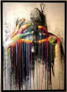 hand, artists, awesom art, street art, inspir, amaz artwork, rainbow, zest, streetart