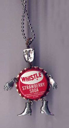 art doll necklace, Stephanie Rubiano