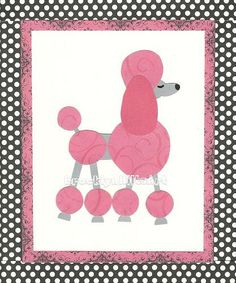 Paris Poodles Childrens Art Work  8x10 Print  by BrooklynHilts, $12.00