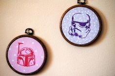 Boba Fett and Stormtrooper Embroideries|Geek Crafts