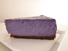 UBE CHEESECAKE http://theletmeeatcake.com/2011/04/ube-cheesecake/