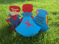 8 Superhero Invitations. $26.00, via Etsy.