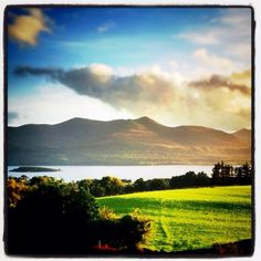 Lakes of Killarney, Co. Kerry. View from Aghadoe Heights Penthouse Suite Terrace.