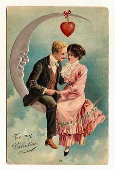 vintage postcards, vintage clip art, vintage valentines, vintage holiday, valentine day cards, paper moon, valentine cards, vintage art, vintage cards