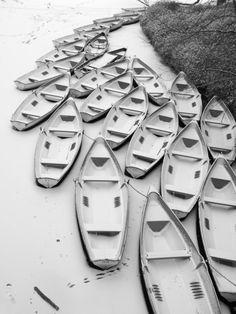 Frozen Boats by Yann Le Biannic