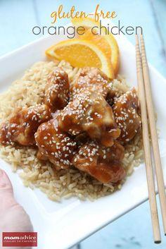 Gluten-Free Orange Chicken from MomAdvice.com. #glutenfree #dairyfree
