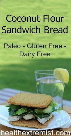 Delicious Coconut Flour Bread Recipe - Perfect for Sandwich Bread #glutenfree #paleo #coconutflour