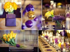 NBA Finals Fun: LA Lakers Inspired Purple, Gold And Yellow Wedding!