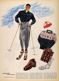 Mens ski wear vintage winter men fashion ski fashion vintage ski skii