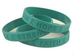 bracelets, ovarian cancer, strength, awar wristband, cancer awareness, teal, angels, accessories, dance