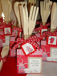 baking party favors. I want to make this for chef.