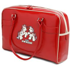 OMGpwnies Red Ladies Computer Bag: Fits a laptop and attending accessories!