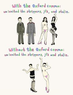 Oxford comma: NOW do you get it?