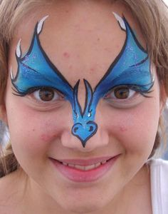Dragon, over the eyes and nose, blue, black