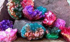 make gemstone soap rocks