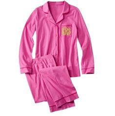 #lillyholiday Pink Monogrammed Pajama Set