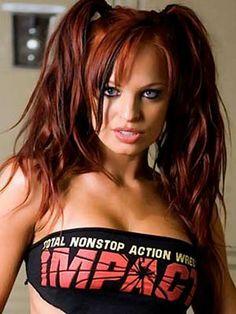 broil sport, tna knockout, colors, hot redhead, wwe divas