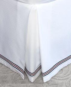 Herringbone King Bed Skirt - Brooks Brothers