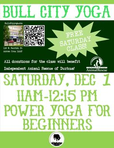 Bull City Yoga and Independent Animal Rescue
