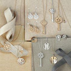 Monogrammed necklaces/rings/earrings
