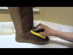 How to Clean UGGS (my video... Seriously) yay for me :)