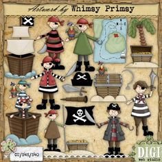 DigiWebStudio - Whimsy Primsy Pirates