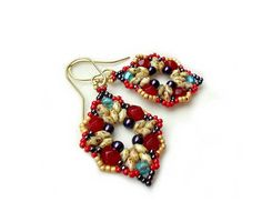 Earrings Tutorial with Superduo beads Intuition number 2