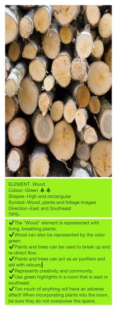 The Elements of Feng Shui   WOOD.