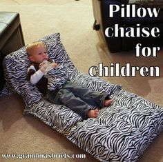 How to make a pillow chaise for children - Grandma's Briefs - On life's second act