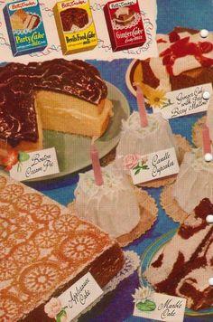 Vintage cake mixes.