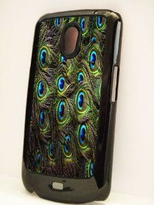 Black samsung galaxy nexus case peacock feather pattern by