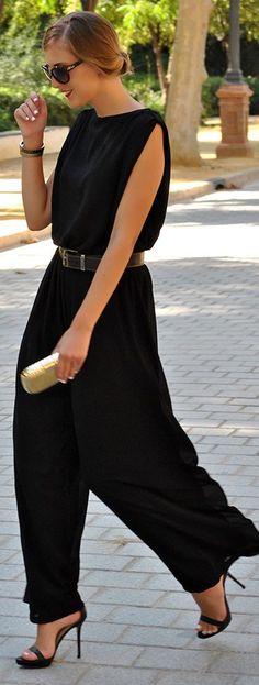 black jumpsuit #UNIQUE_WOMENS_FASHION http://stores.ebay.com/VibeUrbanClothing