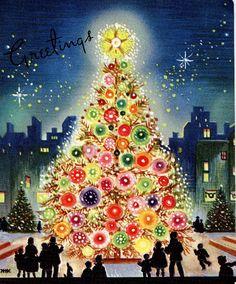 #Christmas #vintage #1950's #tree