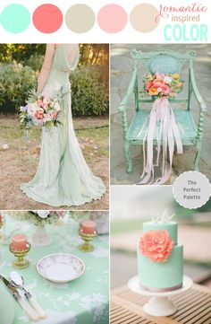 Color Story: Mint and Coral