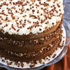 sweet, cakes, bake, food, pumpkin spice, recip, spice cake, dessert, mapl frost