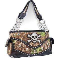 handbag, camouflag purs, skull stud, carri purs, camouflag skull