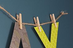 Awesome way to hang. No more holes in my bulletin board letters! bulletin board lettering, letter bunt
