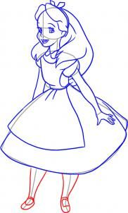 How to Draw Alice from Alice in Wonderland - Disney