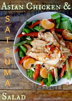 Asian Chicken & Satsuma Salad (GF option!)
