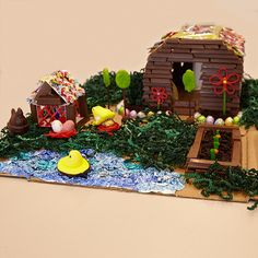 We Made an Easter Candy Diorama! Let Us Show You Around